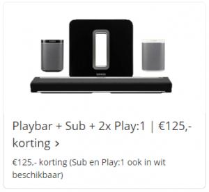 Sonos Playbar + Sonos Sub + Sonos Play 1