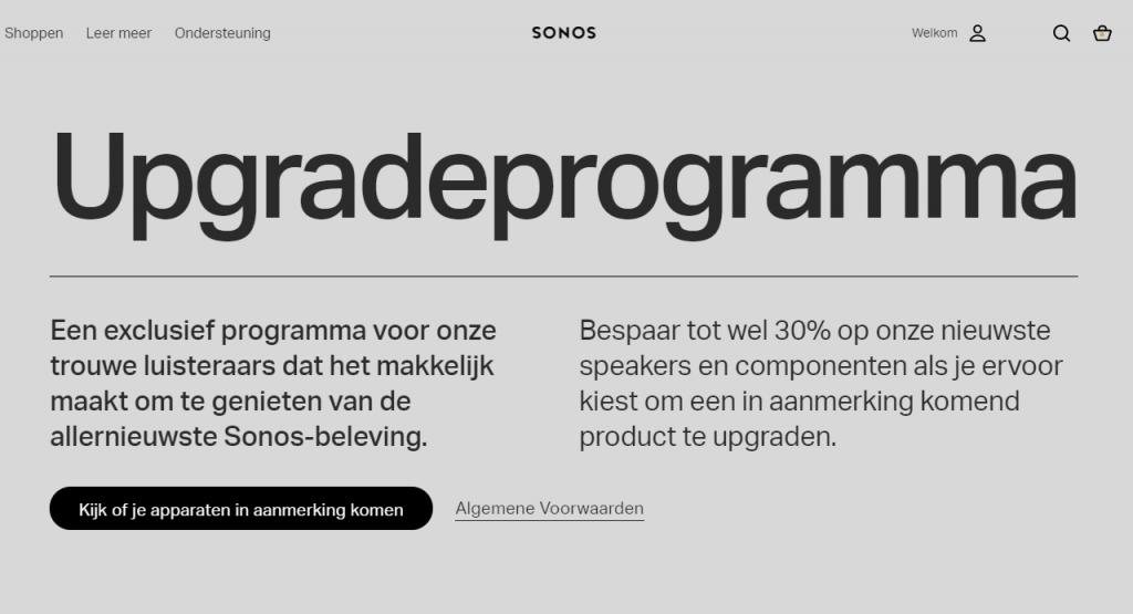 Sonos upgrade programma korting